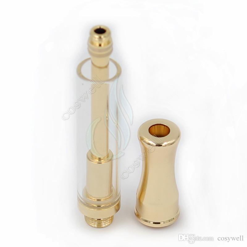 أعلى 92A3 الذهب SS بيركس CE3 خراطيش مبخر BUD Touch 0.7 / 0.9mm 4 ثقوب أنبوب زجاجي سميك من النفط الشمع البخاخة يا قلم بخار خزان Vape أبخرة