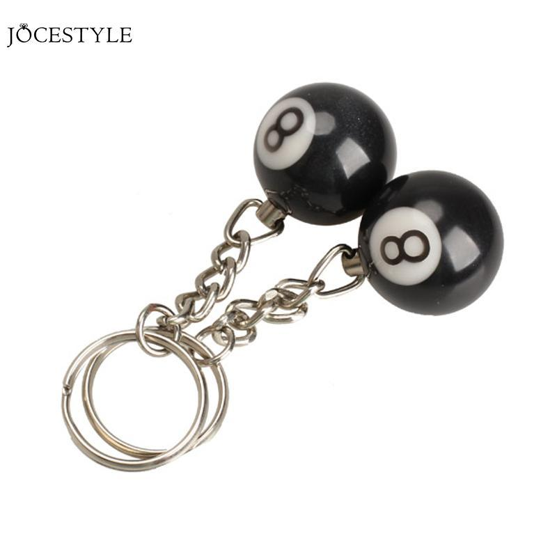 Billiard Pool Keychain Key Ring Snooker Table Ball Key Ring Gift - Pool table key