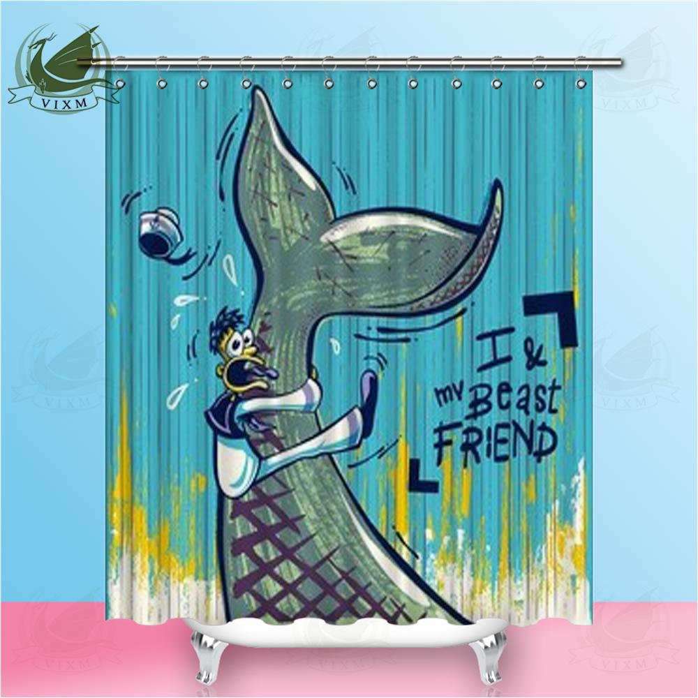 2019 Vixm Home Lovely Dolphin Shower Curtain Ocean Bath For Bathroom With Hooks Ring 72 From Bestory 1665