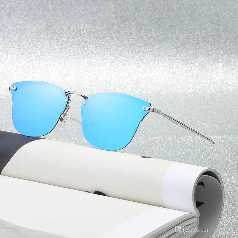 d554059c0c Compre 2018 Popular Nueva Moda Gafas De Sol Polarizadas Gafas Retro Medio  Marco Colorido Gafas De Sol Gafas Para Hombre Y Mujer A $12.68 Del Juyao01  ...