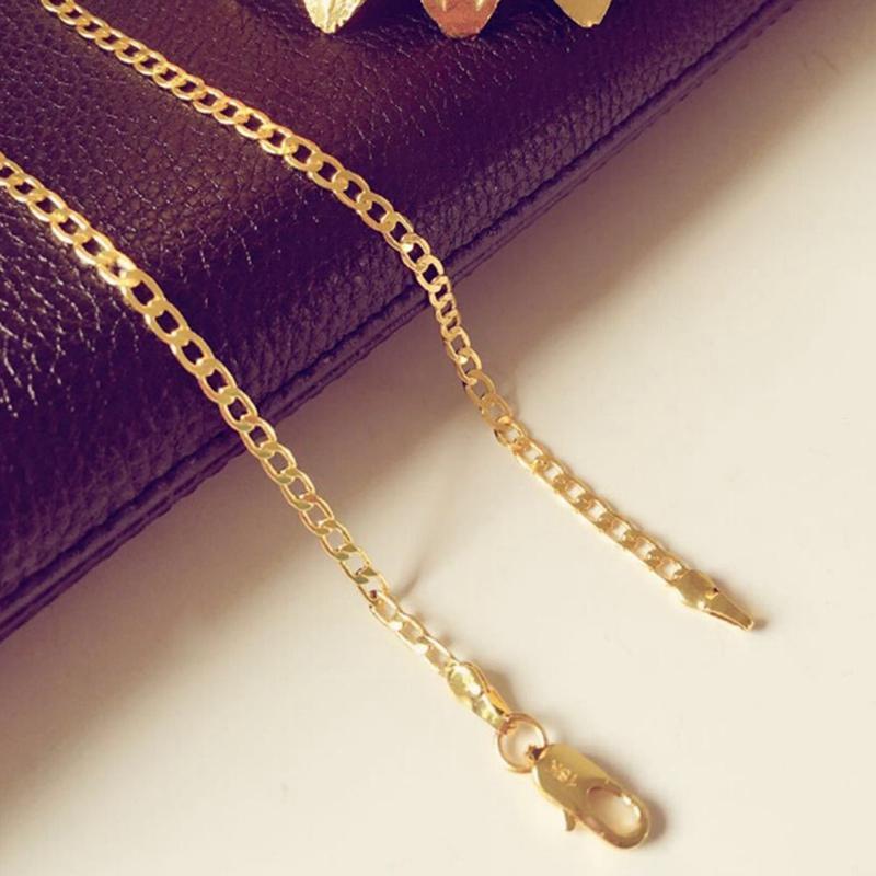 75733e858f42 Compre Color Oro Trenzado Cadena De Singapur 3 5   7MM Collar De Color Oro  Para Mujeres Hombres Nuevo Venta Por Mayor DIY Collar Largo De Joyería A   18.67 ...