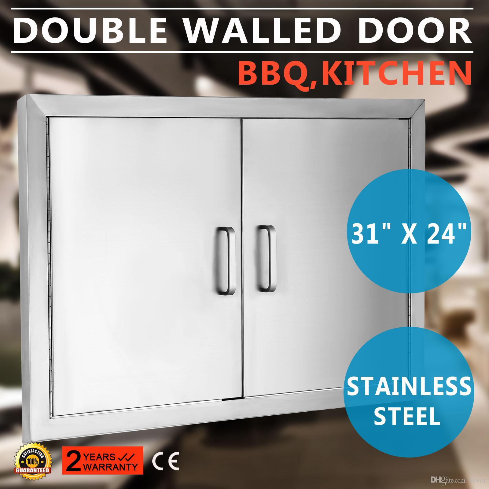 2018 Bbq 31x24 Access Double Walled Door Stainless Doors Outdoor Durable Grill From Vevor 180 91 Dhgate Com