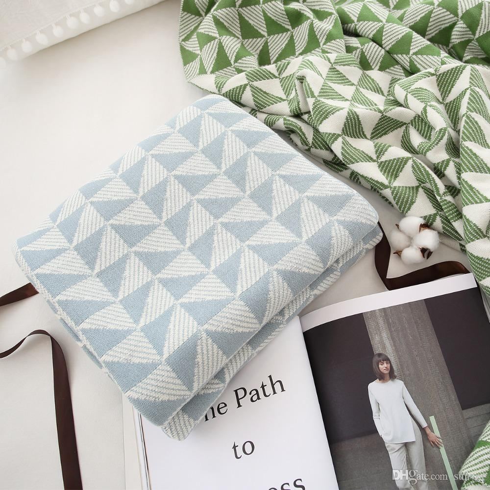 Collalily Nordic 100% Cotton Sofa Throw Blanket Modern Geometric ...