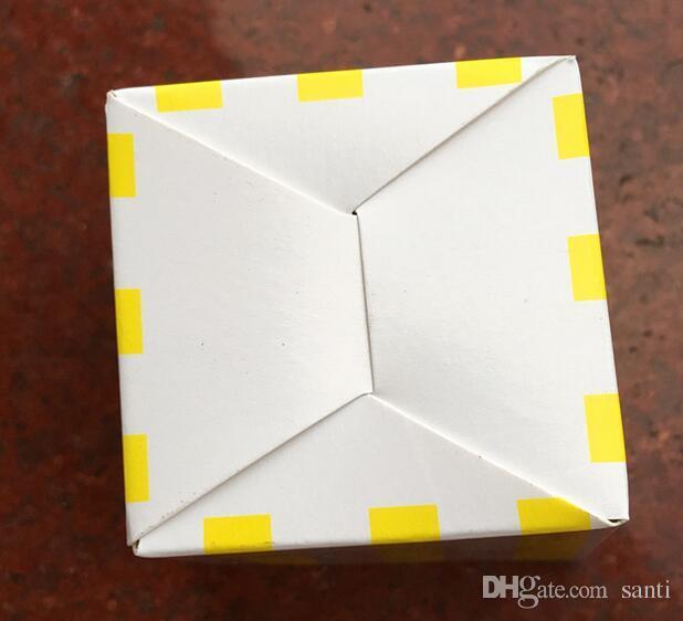 Home Garden New Wave Circles Pattern Folding Candy Popcorn Boxes Fiesta de cumpleaños Boda Candy / Sanck Favor Bolsas Papel Chritmas Regalo Bolsa