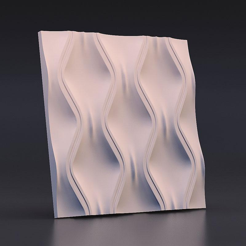 2019 Silicone Mold For Plaster 3d Decorative Wall Panels Ripple