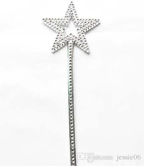 Astilla estrella varita mágica niños niña Cosplay hada princesa elfo ángel varita serpentinas apoyos cumpleaños XMAS fiesta bolsa de relleno favor de 22 cm