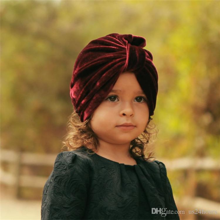 2019 Cute Velvet Baby Hat For Girls Boys Autumn Winter Baby Turban Cap  Photography Props Elastic Infant Beanie Baby Birthday Christmas Gift From  Us24hours bbb56ca22148