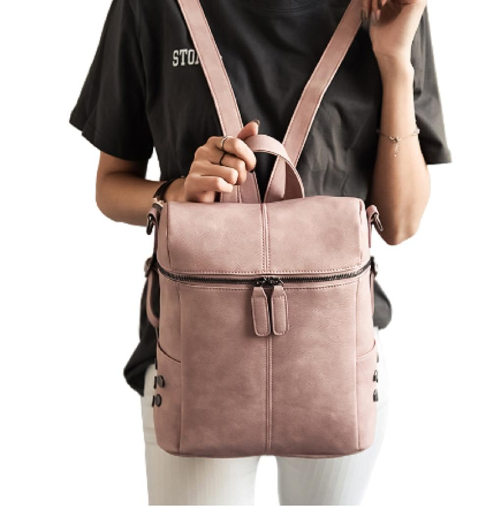 6096d80d08aa Women Ladies Leather Backpack Shoulder Bag Tote Pink Backpack Fashion  Crossbody Satchel One Strap Backpack Backpacking Backpacks From Gor2doe