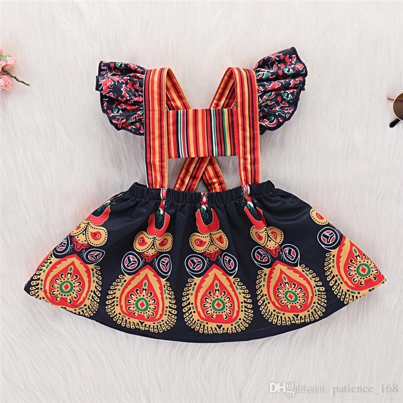 6dae5e1a22ce5 kids dress 2018 summer Hot selling INS NEW arrival Girls Kids color striped  sling Retro ethnic style dress girls backless dress free ship