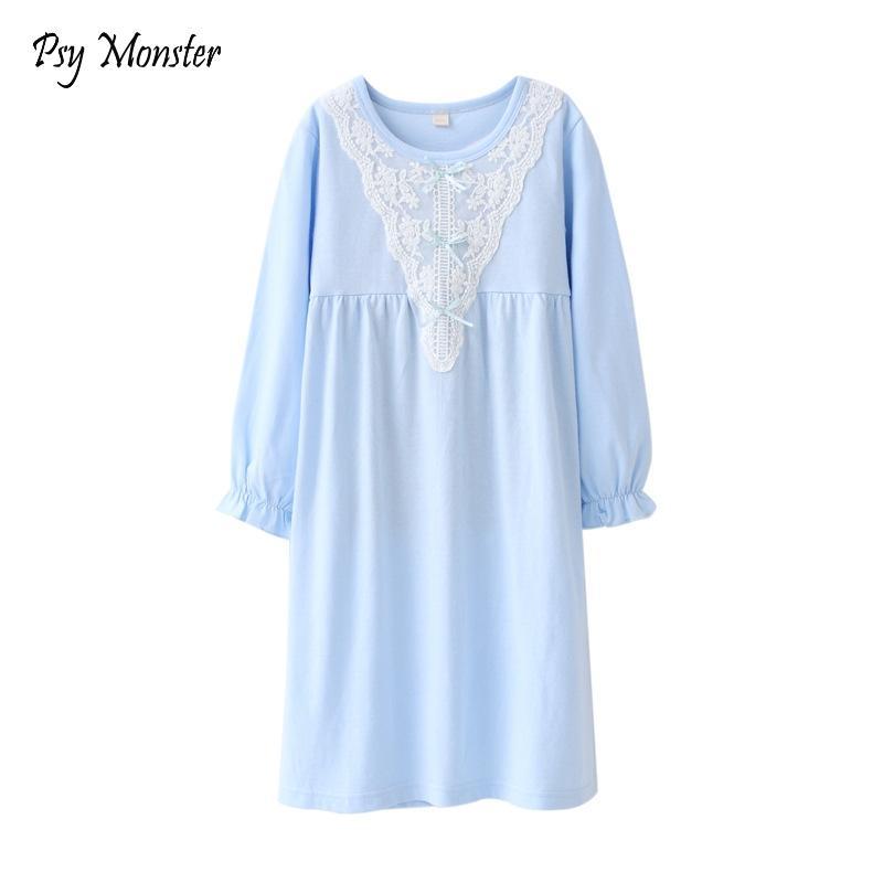 2477341a9 Compre 2018 Floral Meninas Sleepwear Vestido De Algodão De Renda Pijamas  Para Meninas Princesa Crianças Camisola Pijama Vestido Para P5 De Jeanyme