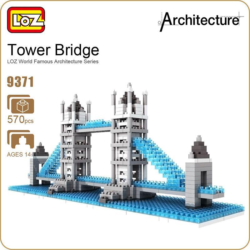 2019 LOZ Ideas Diamond Block Tower London Bridge River Thames England UK Architecture Famous Building Model Assembly Toys DIY 9371 From Cowboyjeans