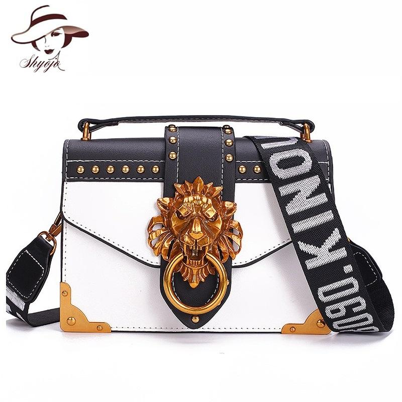 4051a14442a5 Fashion Metal Lion Head Mini Small Square Pack Shoulder Bag Crossbody  Package Clutch Women Designer Wallet Handbags Bolsos Mujer Handbags On Sale  Leather ...
