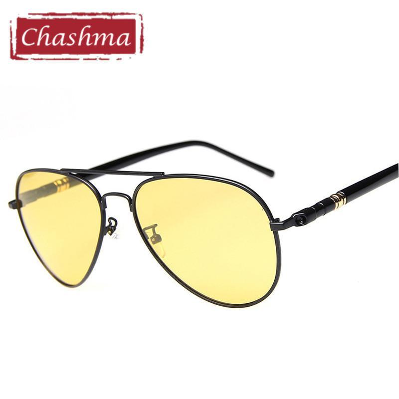 fca96b3dcb Chashma Brand Night Driving Glasses Anti Glare Polarized Men Glasses Yellow  Lenses Driving Gafas Male Pilot Style Prescription Sunglasses Online Black  ...