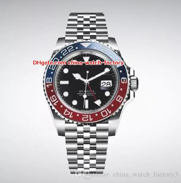NEW 2018 Basel World Topselling 40mm GMT 126710 126710BLRO Pepsi Red Blue Jubilee Bracelet Asia 2813 Movement Automatic Mens Watch Watches
