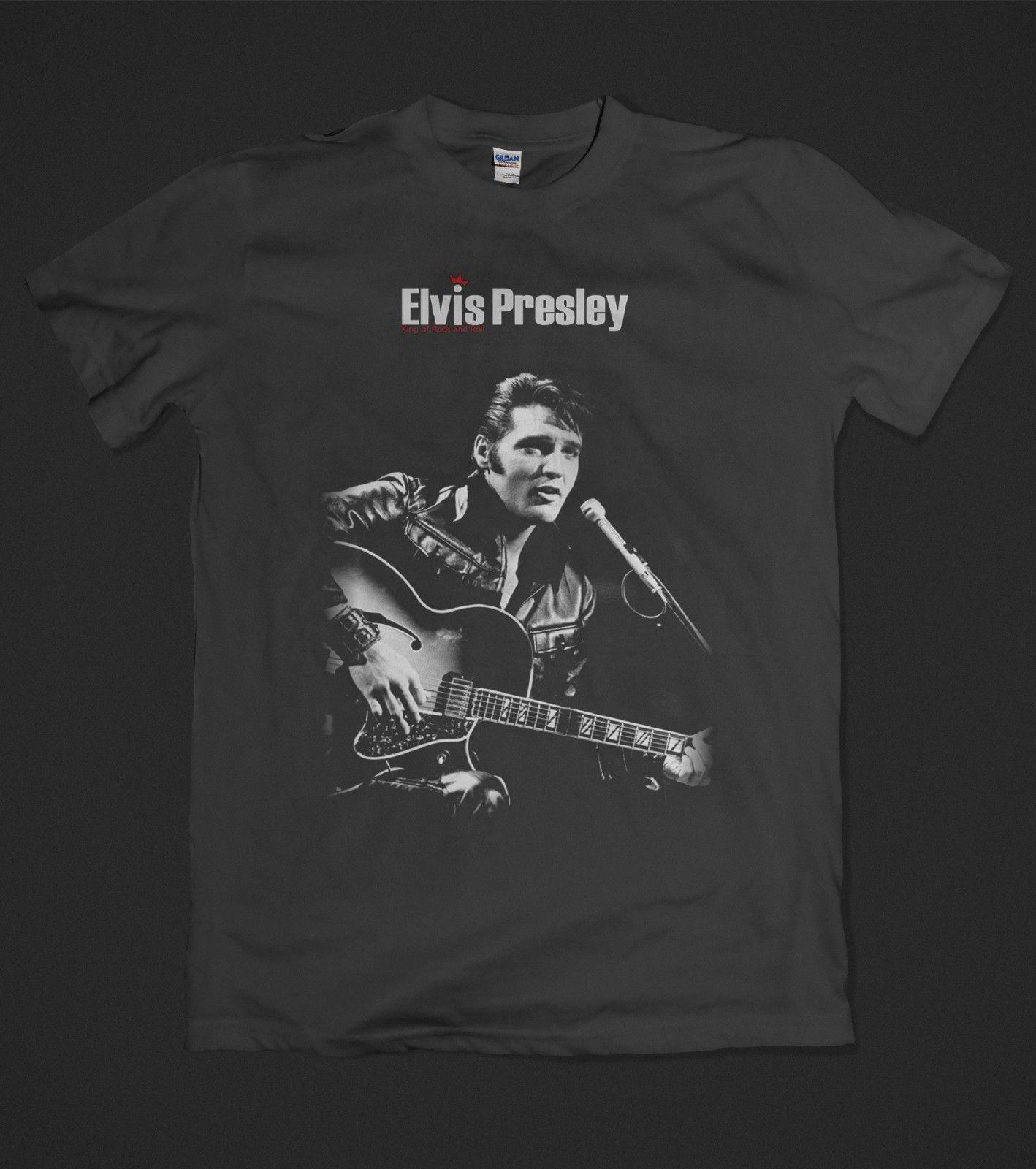 b5d8d401a16 Elvis Presley T Shirt The King Of Rock  N  Roll Cotton Short Sleeve S To  XXL Belgium Soccerer Jersey 2018 Pure Cotton Round Collar Men Cool T Shirts  Designs ...