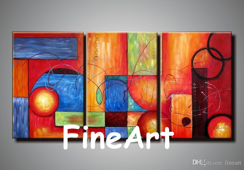 3 Piece Wall Hanging Hand Painted Oil Wall Discount Wall Painting Ideas Home Fine Art Paintings Decoration Home