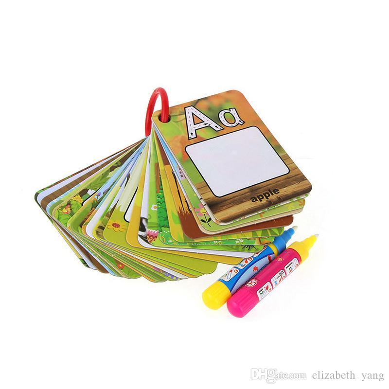 Tarjeta Cognitivo Rompecabezas Colorear Dibujo Pintar Letras 3d De Tablero Libro 26 Agua Para Niños Temprana Pintura Educación 0wm8vNn