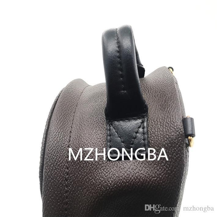Avrupa Ve Amerikan Tarzı kadın Kahverengi Hem Omuzlar Hakiki Deri Çocuk Sırt Çantaları Baskı Deri Vogue Mini sırt çantası Sıcak M50180