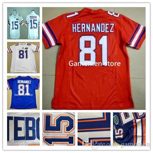 2019 Custom 81 AARON HERNANDEZ Men S Florida Gators College Football  Jerseys White Orange Blue Stitching Jerseys From Gamemen f8bf98274