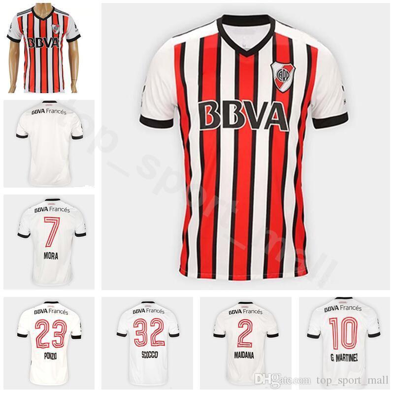 81400e602b0 2019 18 19 FC Soccer Jersey River Plate Football Shirt Kits Men Mas  Ferreyra Moreno Alonso Cavenaghi Carrizo Custom Name Number Home White From  ...