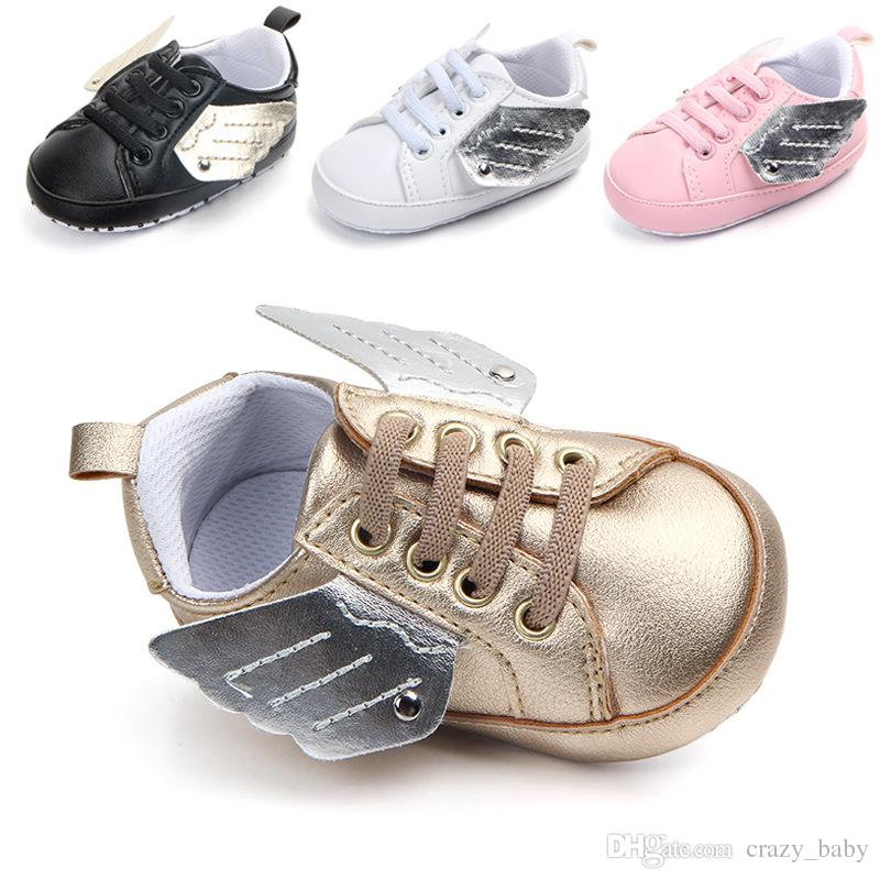 Newborn Baby First Walkers Shoe Infant Toddler Pony Wing Toddler Boots Boy Girl Angel Wings Booties Shoes Prewalkers