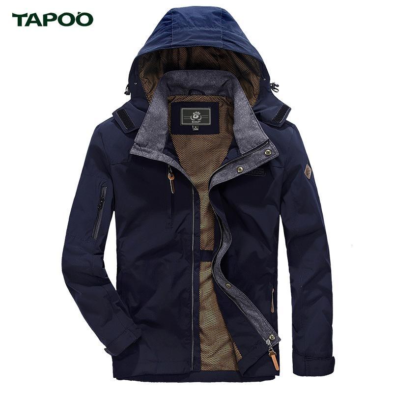 Warm Uomo Homme Con Tapoo Marchio Inverno Casual Outwear