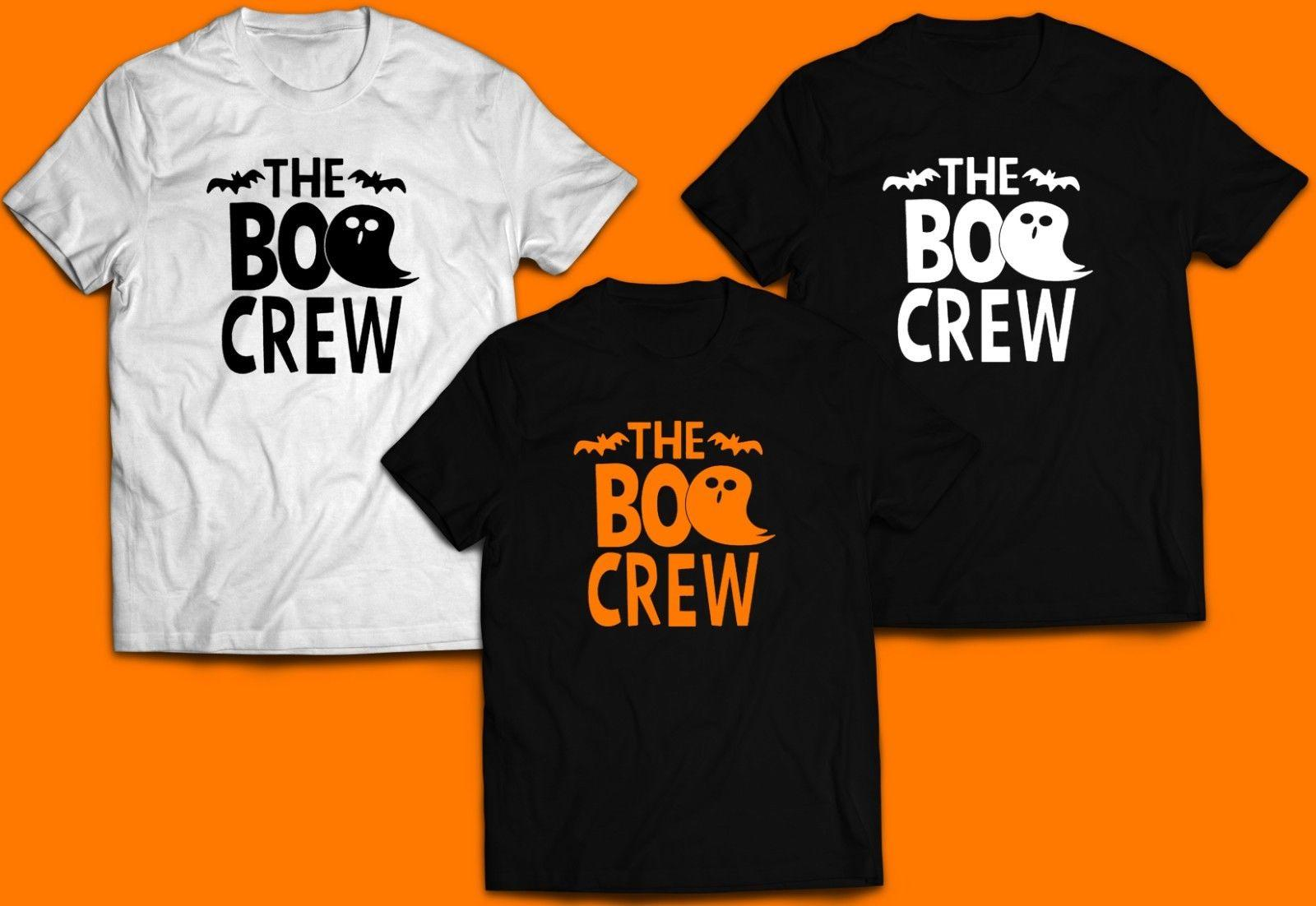 a62d018b Halloween Matching Family Shirts The Boo Crew Ghosts Halloween Mom Dad Kids  Funny Unisex Casual Tee Gift Top T Shirt Design Template Funny T Shirt From  ...