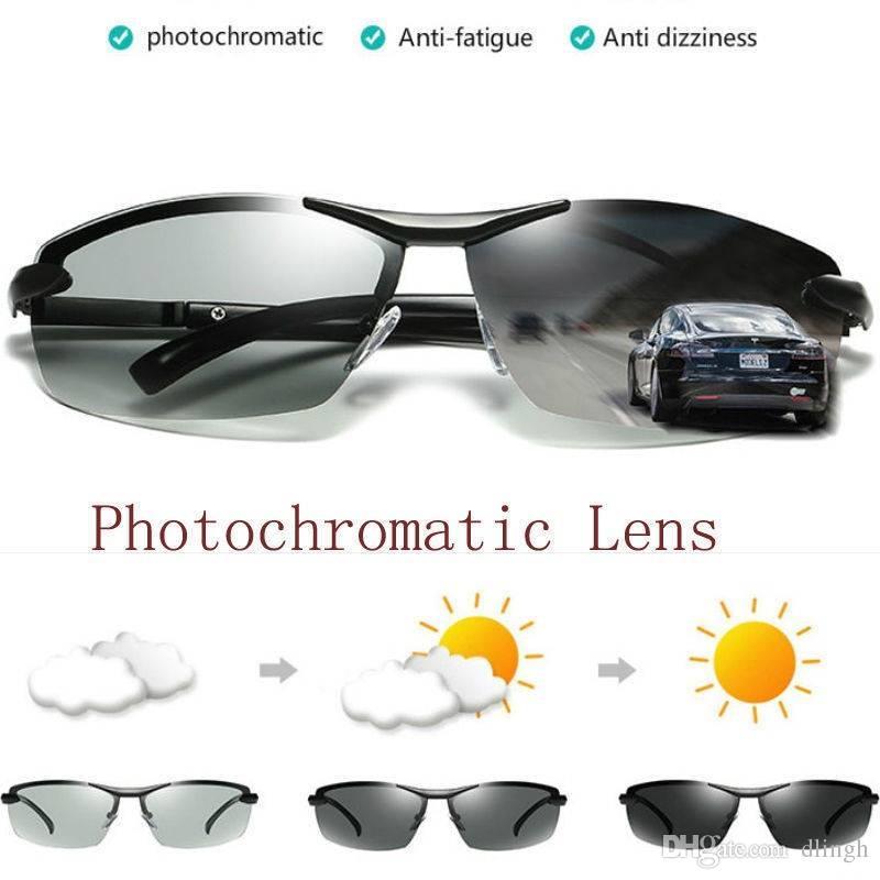 7a7fc3160c8b Men Sunglasses Polarized Photochromic Sunglasses Outdoor Driving Anti  Fatigue Anti Dizziness Goggles UV400 100% UV Protection Motorcycle Goggles  Singapore ...