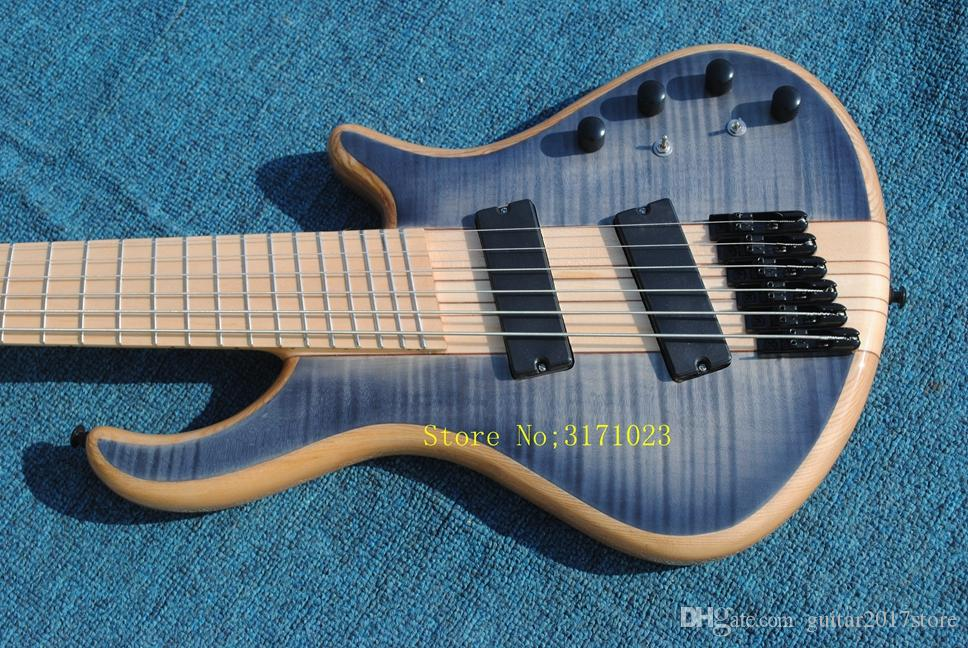Mayones custom bass guitar 6 string mayones fanned frets electric bass guitar Maple fingerboard neck through body with