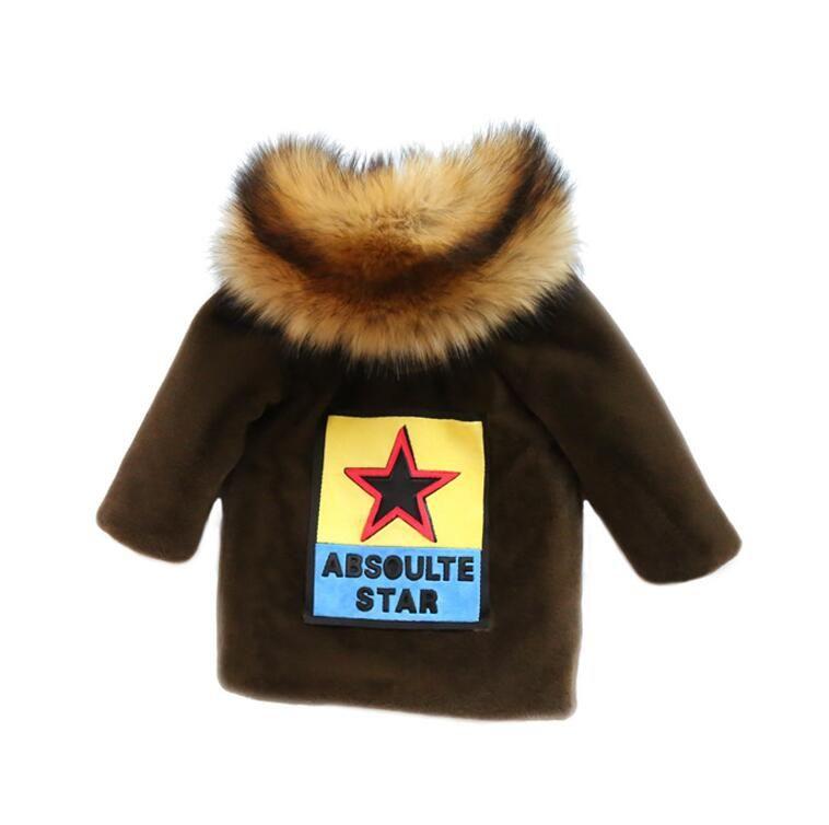 64ce223dfc06 New Winter Kids Boy Jacket Original Large Fur Collar Fashion Baby ...