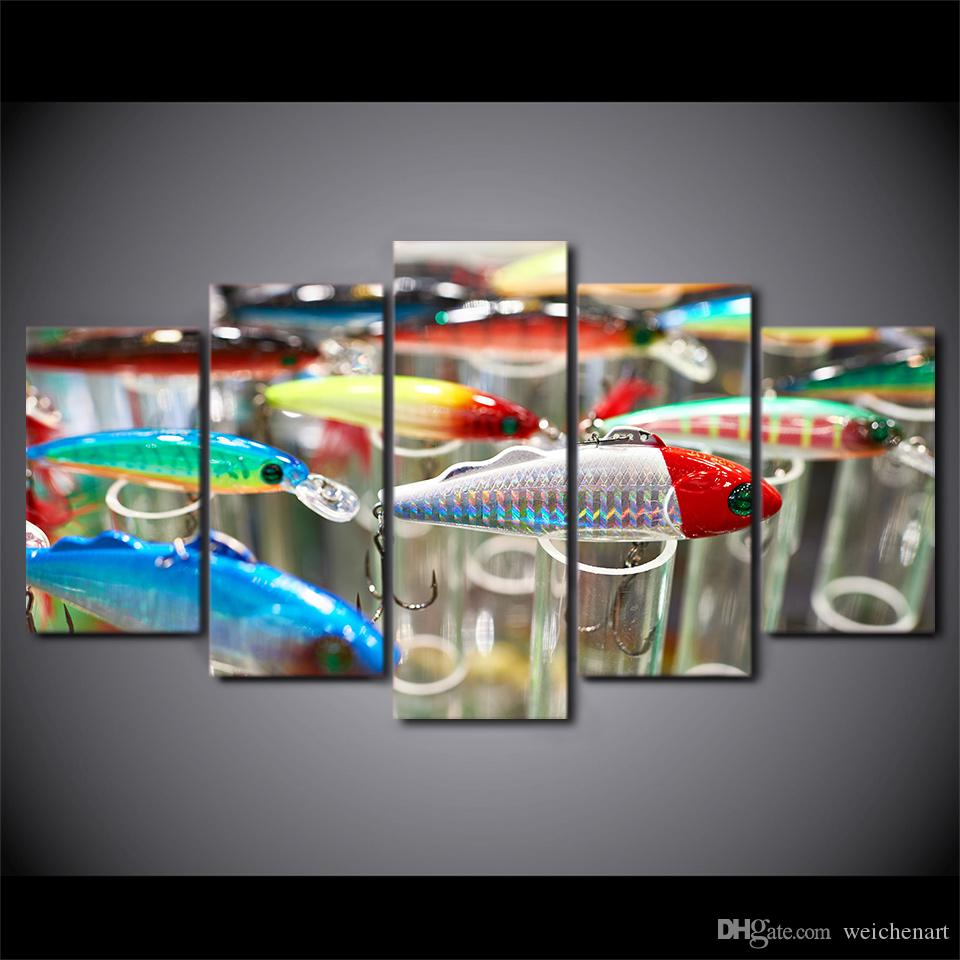 HD Printed Canvas Art Fishing Hooks Painting Modular Wall Pictures for Living Room Modern CU-2483C