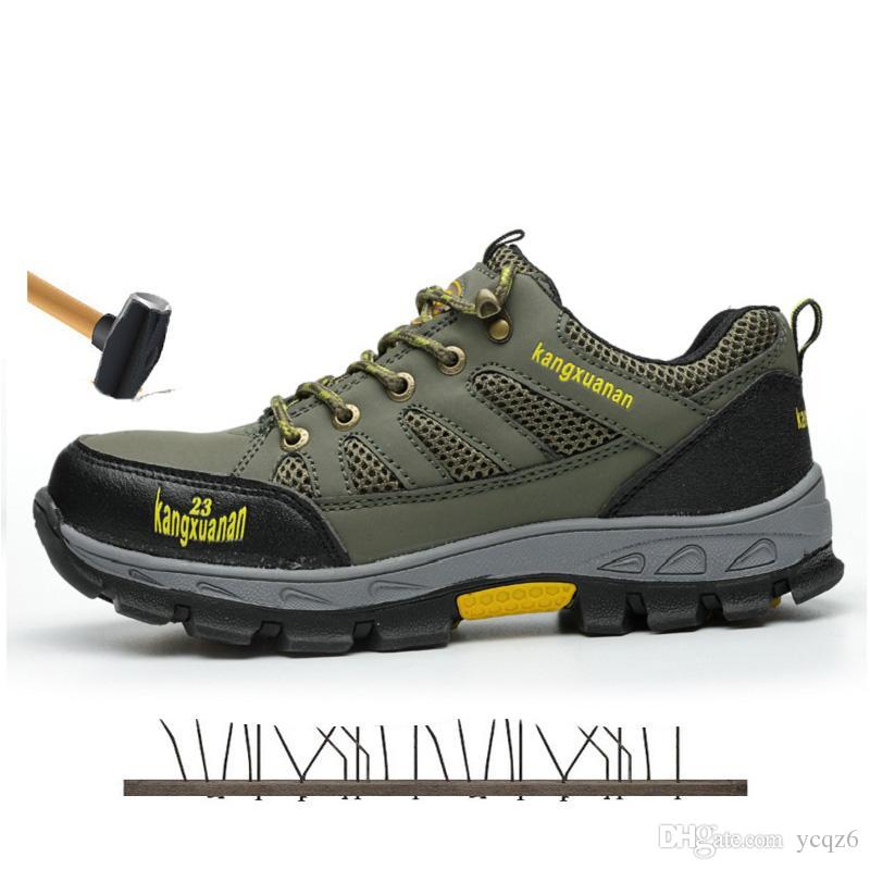 2019 Steel Toe Safety Work Shoes Men 2018 Fashion Summer Breathable