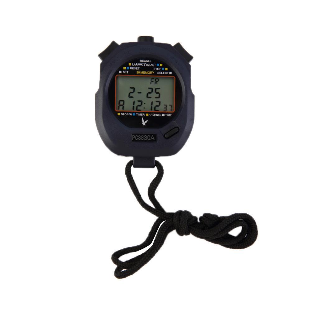 57a63e89d0c6 Compre LEAP PC3830A Professional Cronómetro De Pantalla Grande Digital LCD  Temporizador Cronómetro Contador Con 3 Filas 30 Memorias Stop Watch Marca A  ...