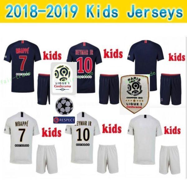 1e9d3ccf 2019 Youth 2019 Ligue 1 Soccer Paris Saint Germain DI MARIA Jersey PSG Kids  MBAPPE CAVANI SILVA Football Kits Children Team Blue Custom Name From Fair  Trade ...