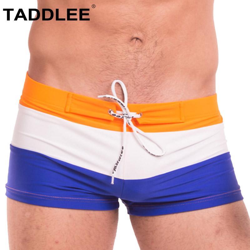 bf04a08f87 Taddlee Brand Sexy Men's Swimwear Swimsuits Swim Brief Bikini Surfing Board  Shorts Bathing Suits XXL Swimming Boxer Trunks Gay Men's Trunks Cheap Men's  ...