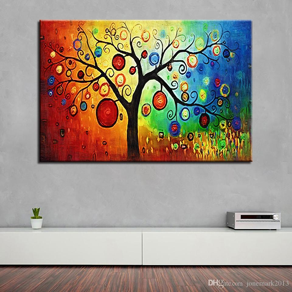 Canvas Pictures Home Decor Framework Colourful Leaf Tree Scenery Painting HD Prints Abstract Poster Living Room Wall Art