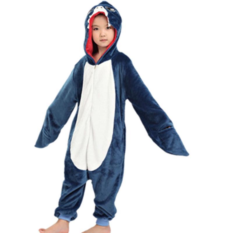 19eb8d8d2 2019 NEW Children Kid Unisex Shark Onesies Costume Girls Boys Animal ...