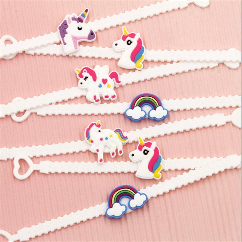Bangle Bracelet unicorno EmojiUnicornio Bomboniere Decorazioni feste Compleanno bambini Regali di nozze gli ospiti Articoli feste
