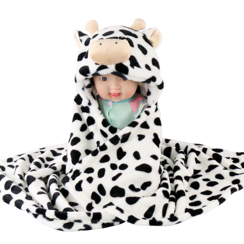 10 stücke! Weiche Babydecken der Karikatur 3D 76cm * 92cm 0-6 Jahre alt scherzt fllannel umfassenden Kinderbadetuchniedlichen Tierform-Babymantel