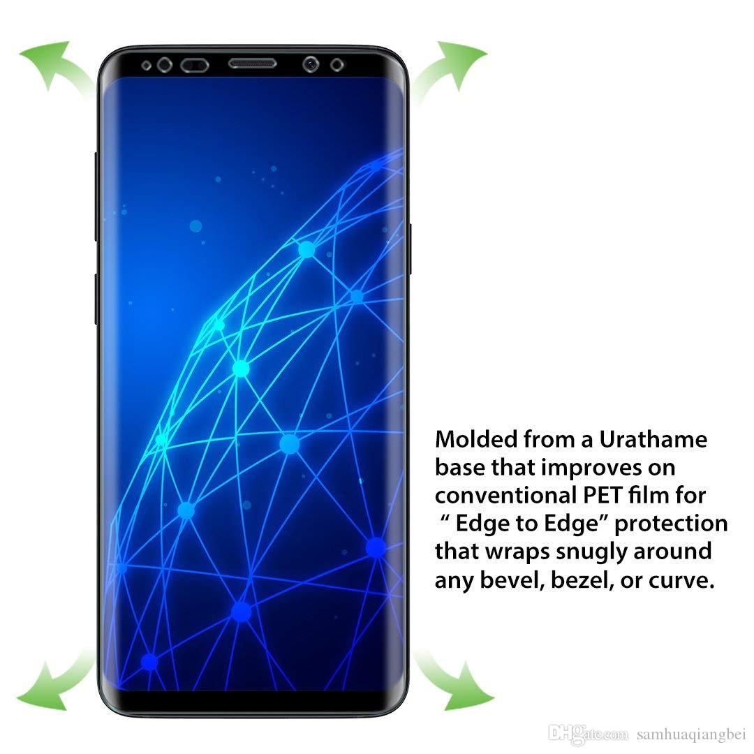 New Style Samsung Galaxy S9 Plus Screen Protector, [Full Coverage] PET Soft  Flexible TPU Film with Lifetime Replacement Warranty