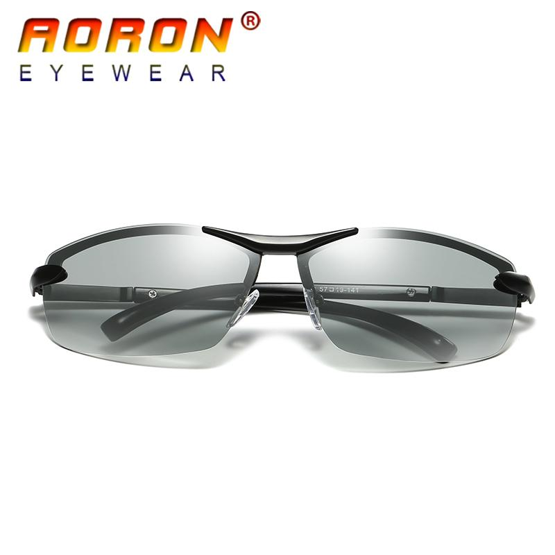 b91cfb6991a Aoron Brand Photochromic Polarized Sunglasses Men Driving Anti Glare Goggles  Hd Discolour Lens Sun Glasses Eyeglasses Foster Grant Sunglasses Spitfire  ...