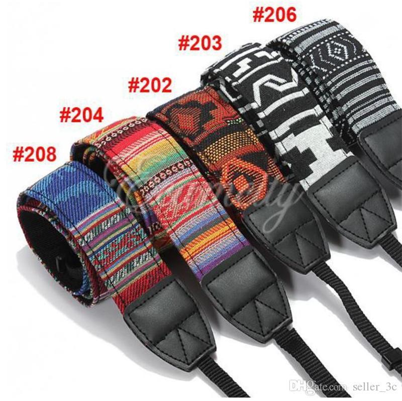 Colorful Vintage Style Canvas Camera Shoulder Neck Strap Belt for Nikon Canon Sony DSLR Camera 17122601