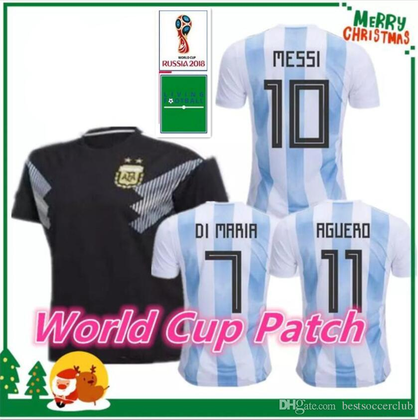 33b70396295 2018 2018 2019 Argentina World Cup Soccer Jersey 18 19 Argentina Home Away  Soccer Messi Aguero Di Maria MASCHERANO DYBALA Football Uniforms From ...