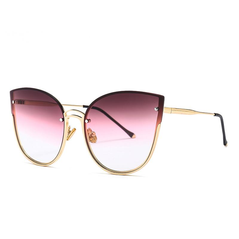 a22887b9dba Vintage Cat Eye Sunglasses New Design Half Frame Women Sun Glasses ...