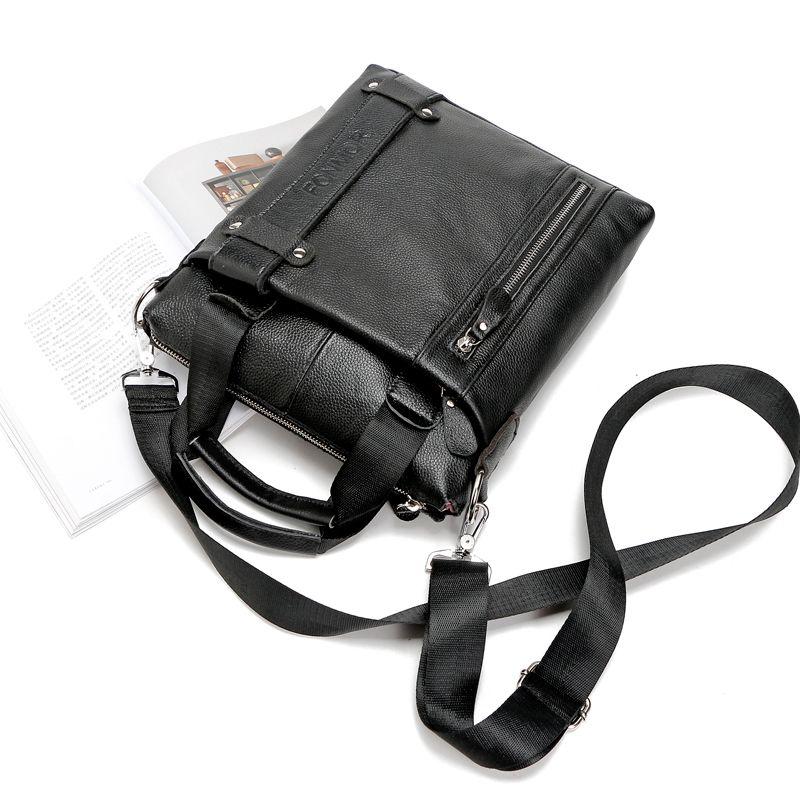 Fonmor Erkek Haberci Çanta Lüks Çanta Hakiki Deri Erkek Çantası Yüksek Kaliteli Omuz Çantası Rahat Fermuar Ofis erkek çantaları