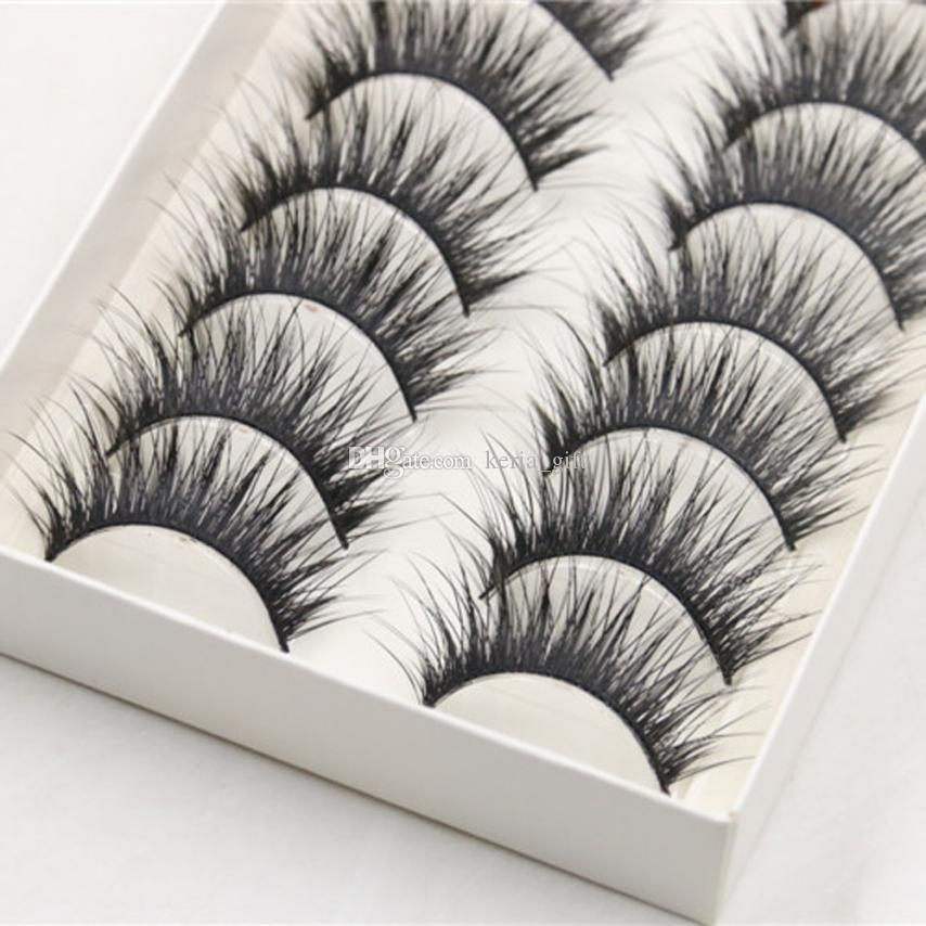 806164d66cf Natural Long Thick Synthetic Hair Cross Party False Eyelash Lashes ...