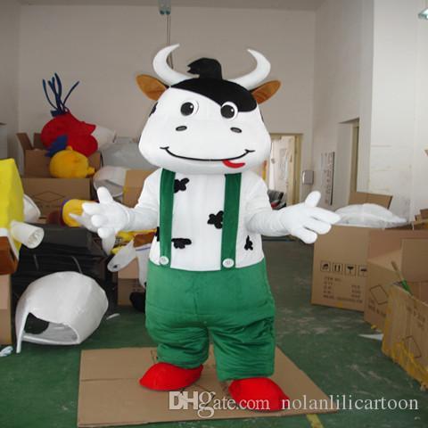 Alta calidad EVA Material Casco Tres estilo Mengniu vaca Mascota Disfraces Película apoyos del partido de dibujos animados Ropa WS501