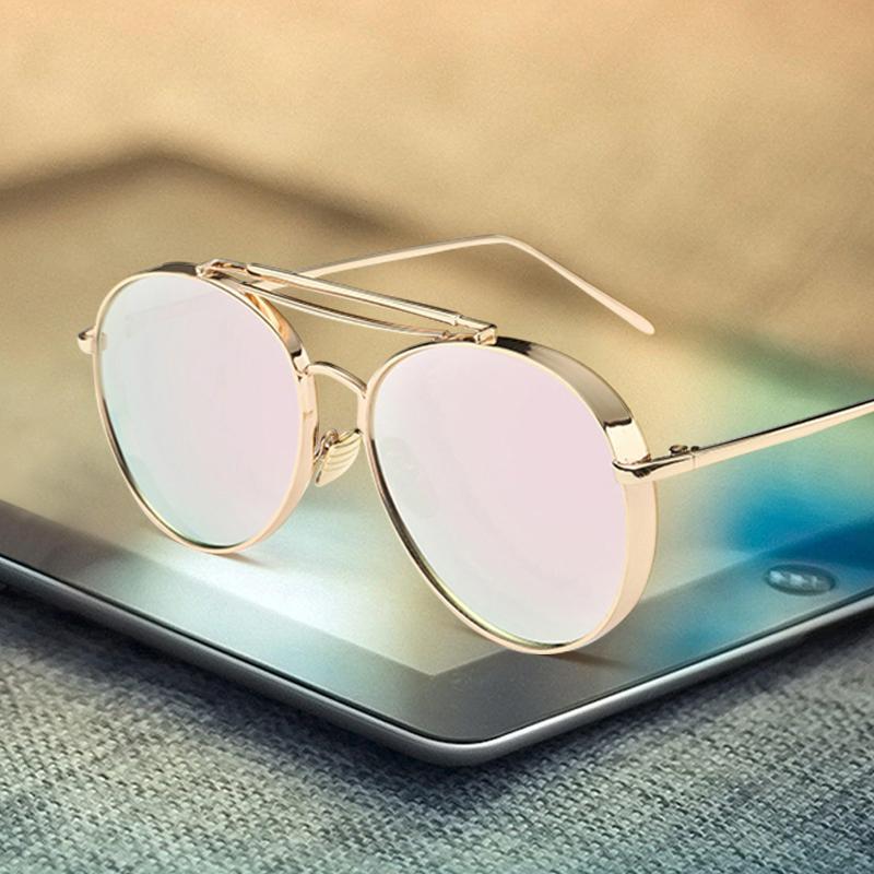 83370710ab24 Compre Rosa Espejo Gafas De Sol Mujer UV400 Lentes De Sol Mujer Gafas De Oro  Mujer Marco De Metal Piloto Gafas De Sol Para Hombres Oculos A $4.36 Del ...