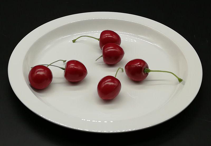 Imitatie porselein melamine dinerenrare diner plaat ronde schotel Modieuze restaurant met melamine plaat A5 Melamine servies