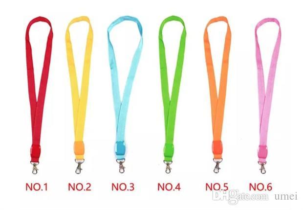 LED Nylon Neck Lanyard Strap Flashing Neck Band Key Chain ID Badge Hanging Lace Rope Mobile Phone Strapes Novelty Lighting Party Decoration